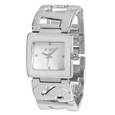 Beverly Hills Ladies Watch with Silver Logo Band