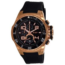 Palermo Men's Watch in Black / Rose Gold
