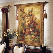 European Jacquard-woven Generous Blooms Tapestry
