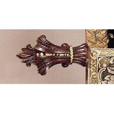 Tortoise Cavalier Finials and Rod