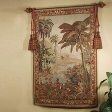 Handwoven River Palms Tapestry