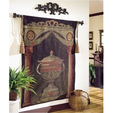 Olde World Filigree Urn Tapestry