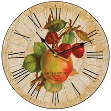 Apples and Cherries Wall Clock