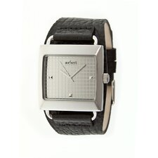 Loud Men's Watch with Black Band and Silver Case