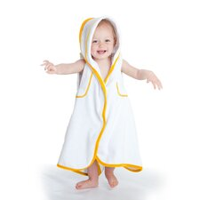 aacua 4 in 1 Bath Towel with Yellow Trim in White