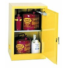 "22.25"" H x 17.5"" W x 18"" D Flammable Liquid 12 Gallon Safety Storage Cabinet"