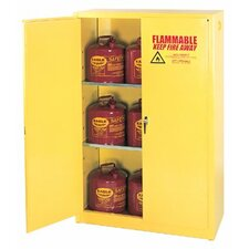 "65"" H x 43"" W x 18"" D 45 Gallon Flammable Liquid Safety Storage Cabinet"