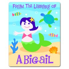 Mermaid Personalized Kids Book Plate (Set of 18)