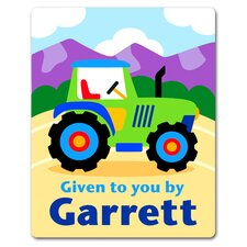 Trains, Planes and Trucks Tractor Personalized Kids Book Plate