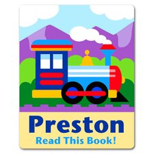 Trains, Planes and Trucks Train Personalized Kids Book Plate