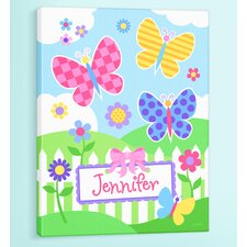Butterfly Garden Personalized Canvas Art