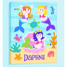 <strong>Olive Kids</strong> Mermaids Personalized Canvas Art
