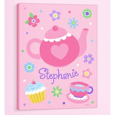<strong>Olive Kids</strong> Tea Party Personalized Canvas Art