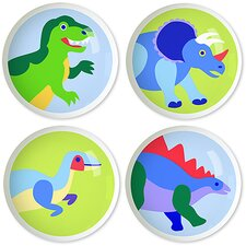 Dinosaur Land Knob (Set of 4)
