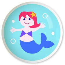 Mermaids Red Hair Knob (Set of 2)