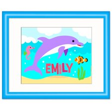 Ocean Dolphin Personalized Framed Art