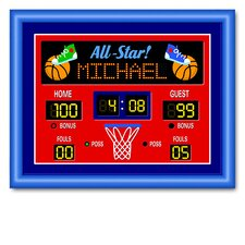 Game On Basketball Large Personalized Framed Art