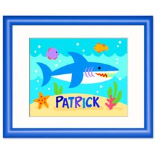 <strong>Olive Kids</strong> Ocean Shark Personalized Wood Print