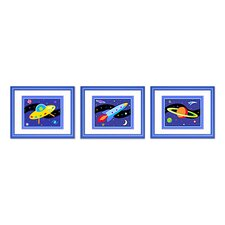 3 Piece Out of This World Framed Art Set