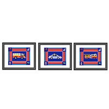 Heroes Print with Black Frame (Set of 3)
