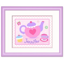 Tea Party Personalized Print with Lilac Frame