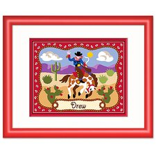 Ride 'em Personalized Print with Red Frame