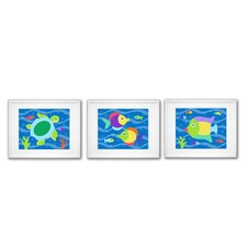 <strong>Olive Kids</strong> Something Fishy Print with White Frame (Set of 3)
