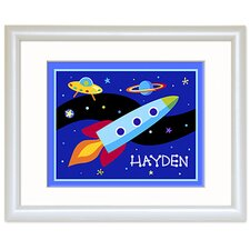 Out of This World Personalized Print with White Frame