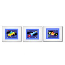 Out of This World Print with White Frame (Set of 3)