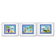 3 Piece Pirates Framed Art Set