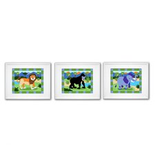 3 Piece Wild Animals Framed Art Set (Set of 3)