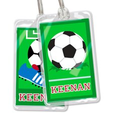 Soccer Personalized Name Tag (Set of 2)