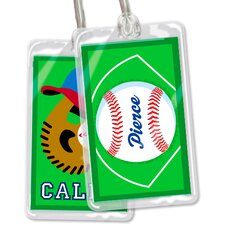 Baseball Personalized Name Tag (Set of 2)