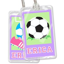 Soccer Girls Personalized Name Tag (Set of 2)