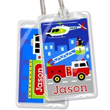 Heroes Personalized Name Tag (Set of 2)