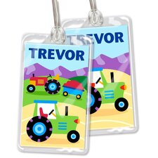 Trains, Planes and Trucks Personalized Name Tag Set