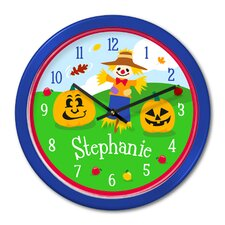 "Fall 12"" Personalized Wall Clock"