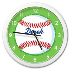 Baseball Personalized Clock with White Case