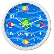 "<strong>Olive Kids</strong> Something Fishy 12"" Personalized Wall Clock"