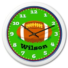Football Personalized Clock with White Case