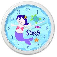 "Mermaids 12"" Personalized Wall Clock"