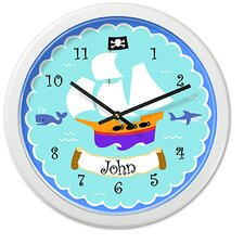 "<strong>Olive Kids</strong> Pirates 12"" Personalized Wall Clock"