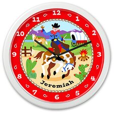 "<strong>Olive Kids</strong> Ride 'Em 12"" Personalized Wall Clock"