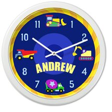 """Under Construction 12"""" Personalized Wall Clock"""