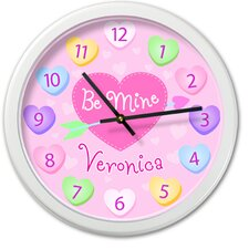 "<strong>Olive Kids</strong> Valentine's Day 12"" Personalized Wall Clock"