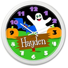 Halloween Ghost Personalized Clock