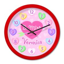 Valentine's Day Personalized Clock