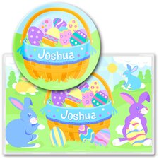 Easter Boy Personalized Meal Time Plate Set