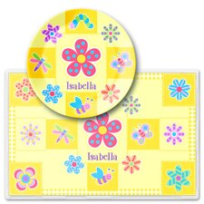 Flower Land Personalized Meal Time Plate Set