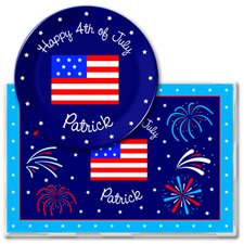 4th of July Independence Day Meal Time Plate Set